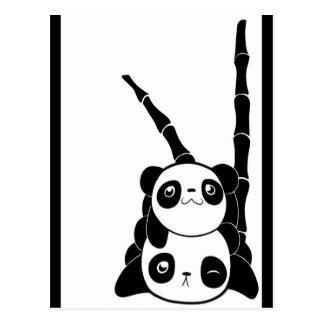 Postal de la pila de la panda