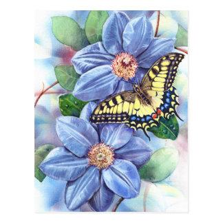 Postal de la pintura de Swallowtail