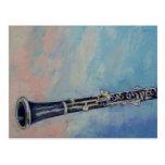 Postal de la pintura del Clarinet