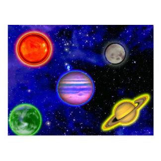 Postal de la pintura del espacio