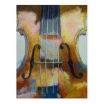 Postal de la pintura del violín