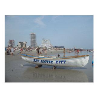 Postal de la playa de Atlantic City