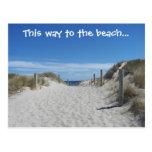 Postal de la playa de Australia