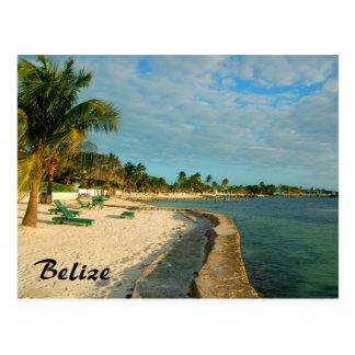 Postal de la playa de Belice