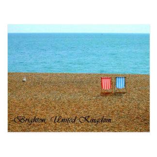 Postal de la playa de Brighton