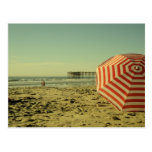 Postal de la playa de California