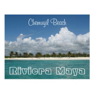 Postal de la playa de Chemuyil
