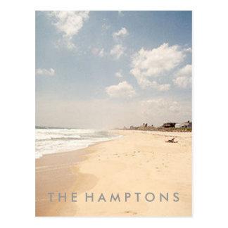 POSTAL de la playa de Hamptons