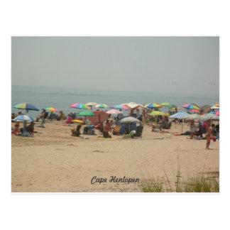 Postal de la playa de Henlopen del cabo