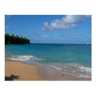Postal de la playa de la Santa Lucía