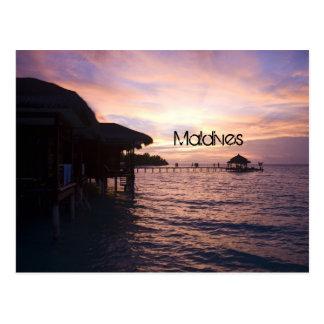 Postal de la playa de Maldivas