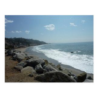 Postal de la playa de Malibu