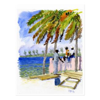 Postal de la playa de Nassau