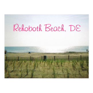 Postal de la playa de Rehoboth - tinta rosada