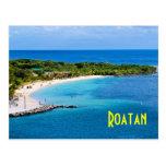 Postal de la playa de Roatan