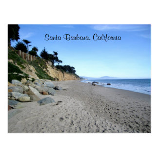 Postal de la playa de Santa Barbara