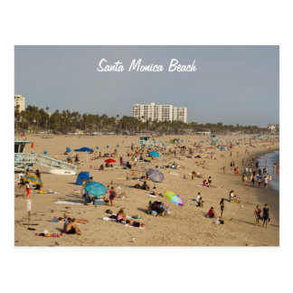 Postal de la playa de Santa Mónica