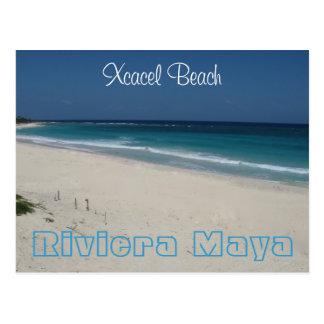 Postal de la playa de Xcacel