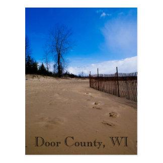 Postal de la playa del condado de Door