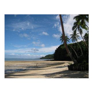 Postal de la playa del Fijian