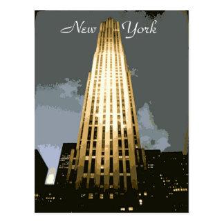 Postal de la plaza de Rockefeller