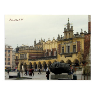 Postal de la plaza del mercado