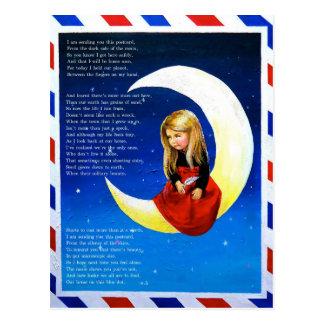 Postal de la postal de la luna