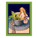 Postal de la postal del té II de la sirena