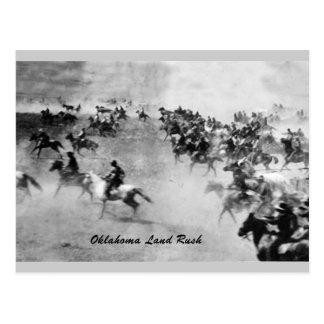 Postal de la precipitación de la tierra de Oklahom