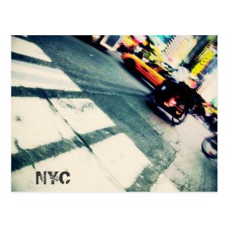 Postal de la precipitación de NYC