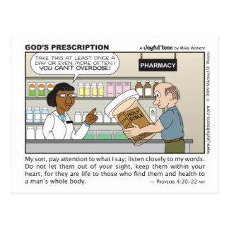 Postal de la prescripción de dios