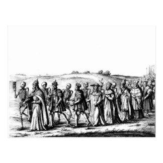 Postal de la procesión de las muertes
