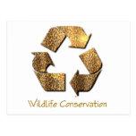 Postal de la protección de la fauna