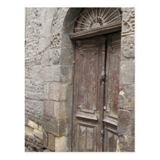 Postal de la puerta de la arquitectura de El Cairo