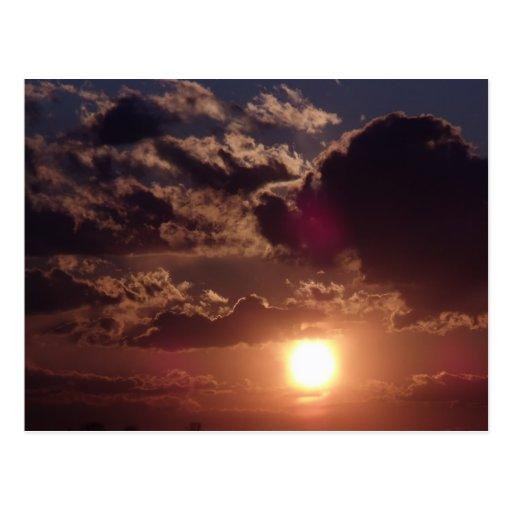 Postal de la puesta del sol