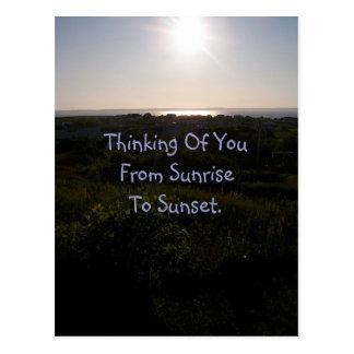 Postal de la puesta del sol 1
