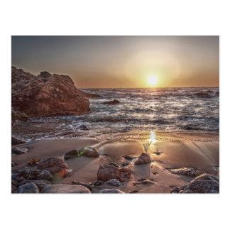Postal de la puesta del sol 2 del océano