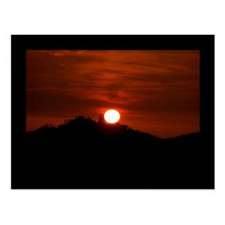 Postal de la puesta del sol de California