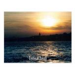 Postal de la puesta del sol de Estambul