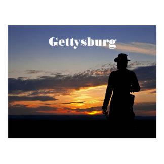Postal de la puesta del sol de Gettysburg