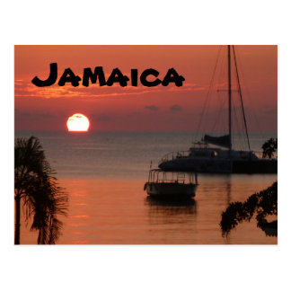 Postal de la puesta del sol de Jamaica