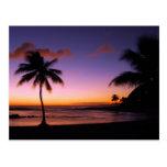 Postal de la puesta del sol de Kauai Hawaii