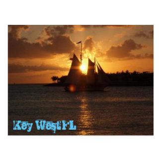 Postal de la puesta del sol de Key West