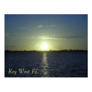 Postal de la puesta del sol de Key West FL