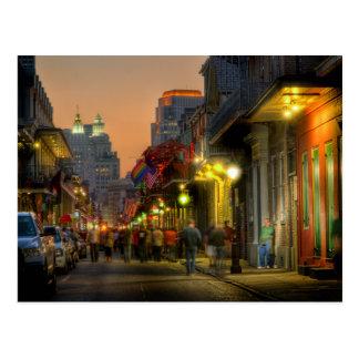 Postal de la puesta del sol de la calle de Borbón