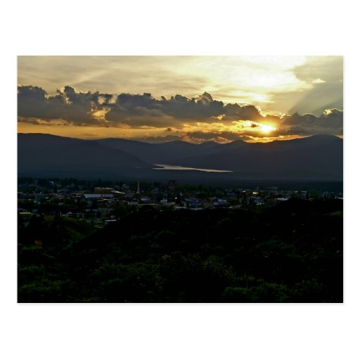Postal de la puesta del sol de Leadville