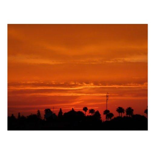 Postal de la puesta del sol de Marrakesh