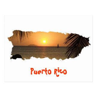 Postal de la puesta del sol de Puerto Rico