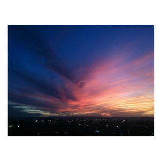 Postal de la puesta del sol de San Diego