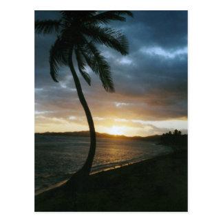 Postal de la puesta del sol de St Thomas
